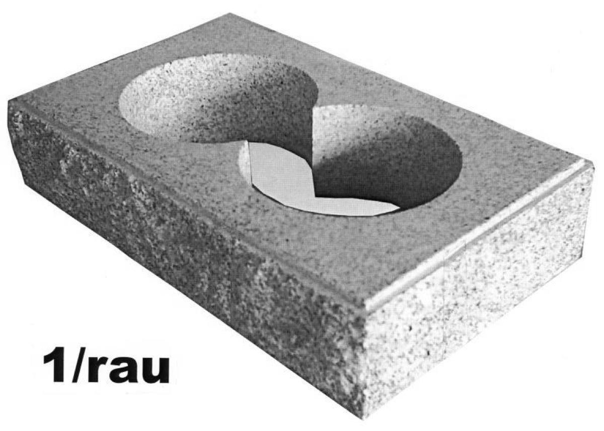 Tors.-Stein bossiert, aus Randfugensystem, ohne Fugenbild