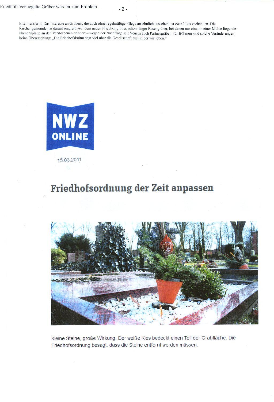 NWZ - Friedhof - Schotterprobleme 2